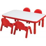 BaseLine® Table, Medium Rectangle. 16 table height, Candy Apple Red