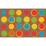 Sitting Spots™ Rug, 6' x 8'4 Rectangle, Muted