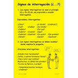 Signos de Interrogación/Question Marks Language Arts Charts