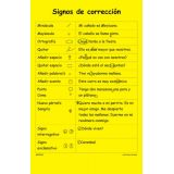 Signos de Corrección/Proofreading Marks Language Arts Charts