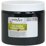 Handy Art® Washable Finger Paint, 16 oz., Black