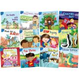 Little Birdie Leveled Fiction Readers, Blue Readers, 12 Book Set (English)