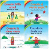 Whatever the Weather Board Books, Spanish/English, Set of 4