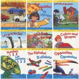 Learning in English and Spanish Board Books, Set 2, Set of 9