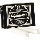 Alphacolor® Triple Size Chalk, White, Box of 12