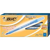 BIC® Round Stic® Ballpoint Pens, Medium Point 1.0mm, Black, Dozen