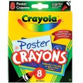 Crayola® Poster Crayons, 8 colors