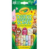 Crayola® Doodle Scents™ Markers, 18 colors/scents