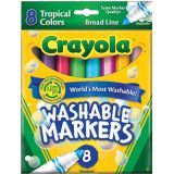 Crayola® Washable Broad-Line Markers, Tropical Colors
