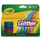 Crayola® Glitter Markers, 6 colors