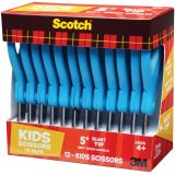 Scotch™ Kids Scissors Teacher Pack, 5 Blunt Tip