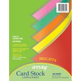 Pacon® Card Stock, Bright Assorted