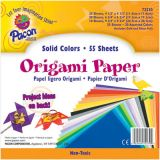 Origami Paper, Assorted sizes up to 9 3/4 x 9 3/4, 55 sheets