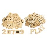 Wood Craft Sticks, Letters & Numbers