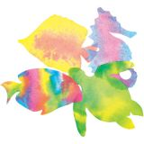 Color Diffusing Paper, 7 x 10 Sealife Shapes, 48 sheets