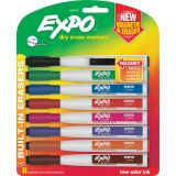 Expo® Magnetic Dry Erase Markers with Eraser, Fine Tip, Set of 8
