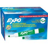 Expo® Low Odor Dry Erase Markers, Chisel Tip, Green, Pk of 12