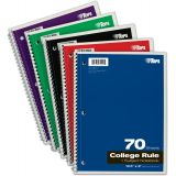 TOPS® Wirebound Subject Notebooks, 1 Subject, College Ruled