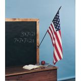 Classroom Flags, 12 x 48 Flag size, 30 Pole height