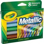 Crayola® Metallic Markers, 8 colors