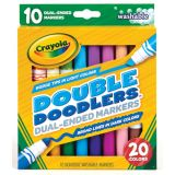 Crayola® Dual-Ended Washable Double Doodlers Markers, 10 colors
