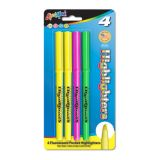 Liqui-Mark® Fine Point Highlighters, Pack of 4