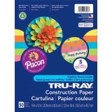 Tru-Ray® Fade-Resistant Construction Paper, 9 x 12, Hot Assorted