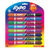 Expo® Dual Ended Dry Erase Markers, Set of 8, Assorted