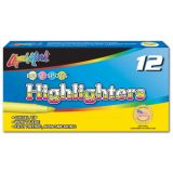 Liqui-Mark® Fine Point Highlighters, Fluorescent Blue, Dozen