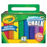 Crayola® Washable Sidewalk Chalk, 48 colors