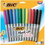 BIC® Mark-It™ Permanent Markers, 12-color set