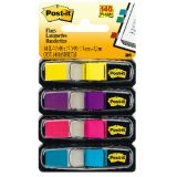 Post-It® Small Flags, Fluorescent Yellow, Purple, Pink, Bright Blue