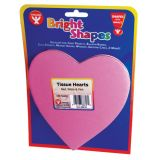 6 Tissue Hearts, 180 sheets