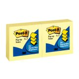 Pop-Up Note Refills, 3 x 3, Canary Yellow, 6 pads