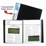 C-Line® Bound Sheet Protector Presentation Book, 12-Pocket