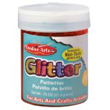 Art Glitter, 3/4 oz. Jar, Red