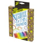 Crayola® Art with Edge™ Thick & Thin Washable Markers