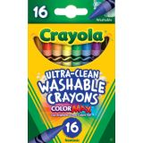 Crayola® Ultra-Clean Washable Crayons, Regular, 16 colors
