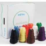 Trait-tex® Yarn, 4-Ply Jumbo, 8 oz., 9 cones, Bright Colors