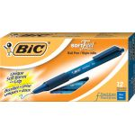 BIC® SoftFeel® Retractable Ballpoint Pens, Fine Tip 0.8mm, Blue
