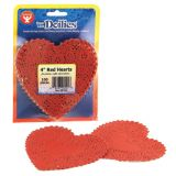 Doilies, 4 Red Hearts