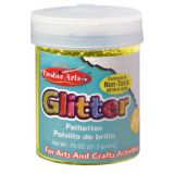 Art Glitter, 3/4 oz. Jar, Gold