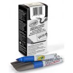 Crayola® Chisel Tip Visi-Max™ Dry Erase Markers, Blue, Box of 12