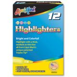 Liqui-Mark® Broadline Highlighters, Fluorescent Blue, Dozen