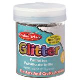 Art Glitter, 3/4 oz. Jar, Silver