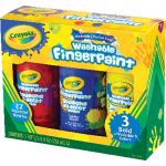 Crayola® Washable Fingerpaint Set, Bold Colors