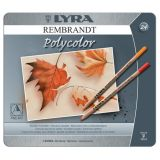 Lyra Rembrandt Polycolor Pencils, 24 Color Set