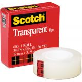 Scotch® Transparent Tape, 3/4 x 1296
