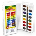 Crayola® Oval Pan Watercolor Set, 16-color set
