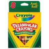 Crayola® Triangular Anti-Roll Crayons, 8 count